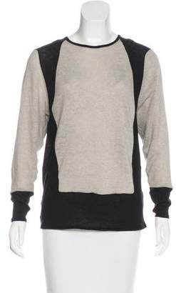 Helmut Lang Wool-Blend Colorblock Sweater