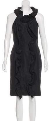 Oscar de la Renta Ruffle-Embellished Midi Dress