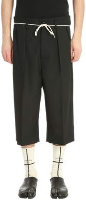 Maison Margiela Black Wool Shorts
