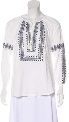 Soft Joie Long Sleeve Embroidered Top