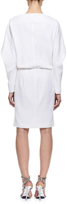 Tom Ford Pointed Long-Sleeve Cashmere Dress