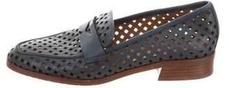 Aquatalia Leather Cutout Loafers
