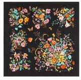 Gucci Sine Bouquet Silk Twill Scarf