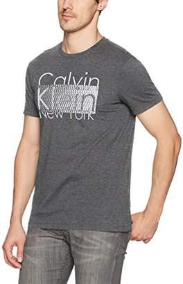 Calvin Klein Men's Short Sleeve Logo Crew Neck T-Shirt