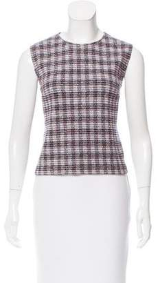 Victoria Beckham Sleeveless Bouclé Top