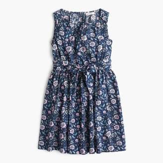 J.Crew Girls' tie-waist dress in floral