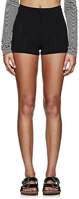 Marc Jacobs Women's Pointelle-Stitched Boy Shorts - Black