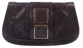 Tory Burch Embossed Flap Clutch