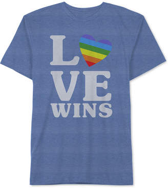 Hybrid Men's Pride Love Wins Graphic T-Shirt