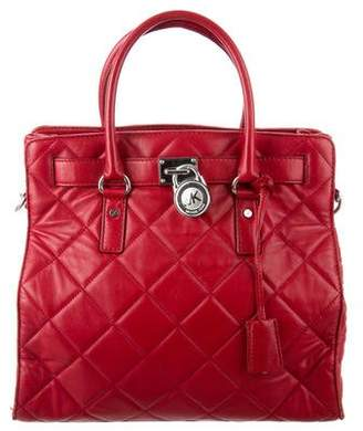 MICHAEL Michael Kors Large Quilted Hamilton Tote