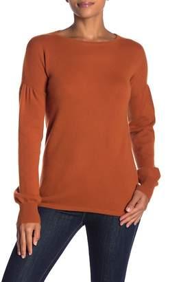 Sofia Cashmere Cashmere Blouson Crew Neck Sweater
