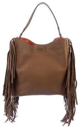 593a9e3922 Pre-Owned at TheRealReal · Prada Cervo Fringe Hobo. Faux Leather Fringe  Hobo Bag ...