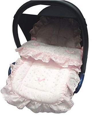 Graco For Your Little One Broderie Anglaise Car Seat Footmuff/Cosy Toes Compatible with Junior Baby/Logico Pink