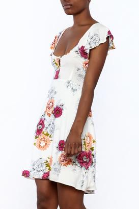Cotton Candy Flower Flutter Dress $45 thestylecure.com