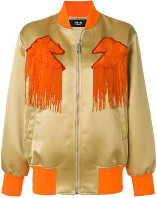 Versus fringed bomber jacket