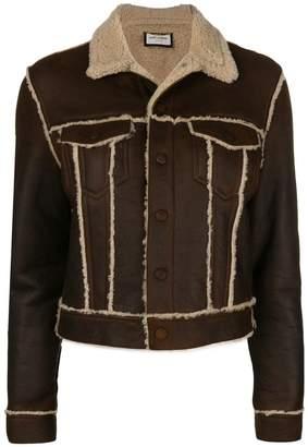 Saint Laurent cropped shearling jacket