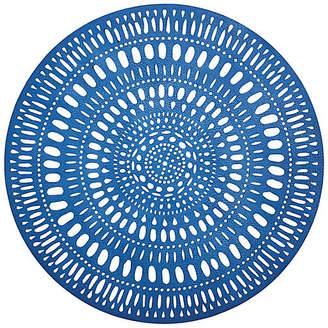 At One Kings Lane · Kim Seybert Set Of 4 Fiesta Place Mats   Blue/White