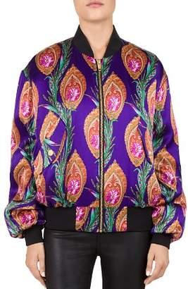 The Kooples Hindu Flower Print Bomber Jacket