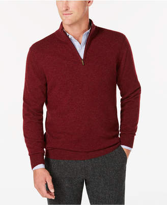 Club Room Men Quarter-Zip Cashmere Sweater