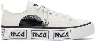 McQ Off-White Metal Logo Platform Sneakers