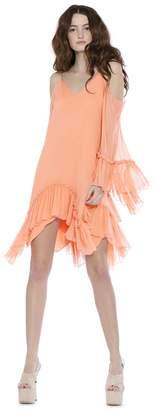 Alice + Olivia Ilaria Cold Shoulder Angel Sleeve Cocktail Dress
