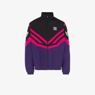 adidas Sportive pink stripe track jacket