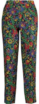 3.1 Phillip Lim Floral-Jacquard Tapered Pants