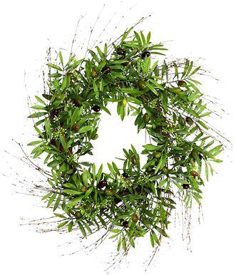 Rogue Artificial Olive Wreath, 76cm