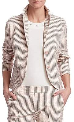 Akris Punto Women's Seersucker Stretch-Wool Blazer