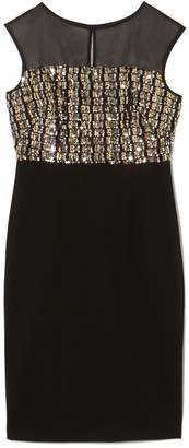 Vince Camuto Sequin-bodice Dress