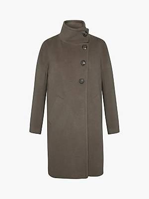 Gerard Darel Phoebe Funnel Neck Coat, Camel