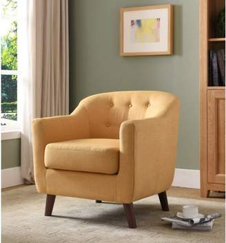Furniture of America Lawford Mid Century Modern Yellow Accent Chair