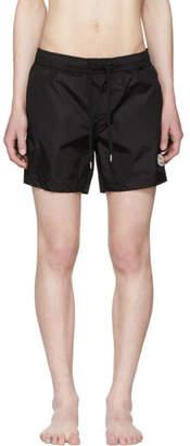 Moncler Black Small Logo Swim Shorts