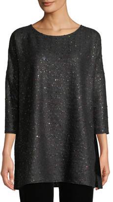 Caroline Rose Confetti Sparkle Knit Easy Tunic, Plus Size