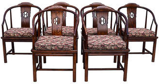 One Kings Lane Vintage Henredon Chinoiserie Dining Chairs - Set of 6 - Cannery Row Home