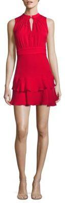 Parker Matilda Ruffled Silk Dress $288 thestylecure.com