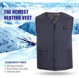 Hurrise HURRISE USB Intelligent Heating Sleeveless Vest Heated Jacket Heating Wind Resistant Jacket Warm (XXL)
