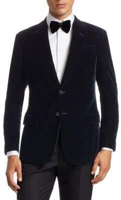 Giorgio Armani Stretch Solid Velvet Dinner Jacket