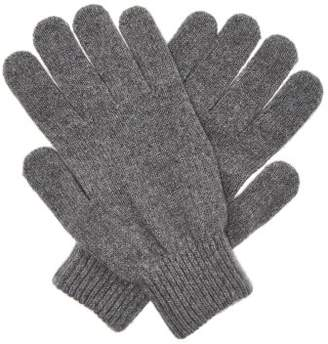 Paul Smith Cashmere And Merino Wool Blend Gloves - Mens - Grey