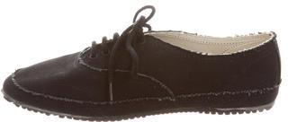 Yohji Yamamoto Denim Lace-Up Sneakers $95 thestylecure.com