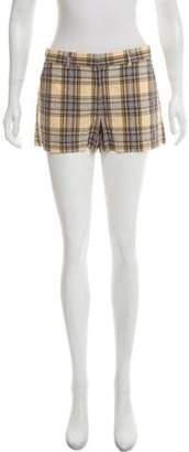Theory Checkered Mini Shorts