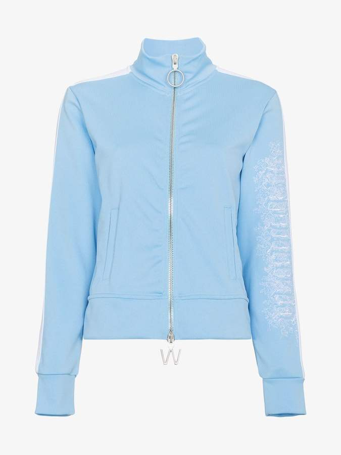 Blue Zip Front Sports Jacket