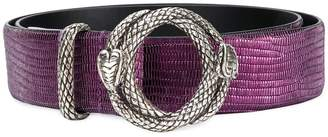 Just Cavalli embossed circle buckle belt