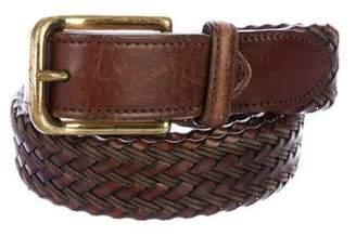 Burberry Braided Leather Belt