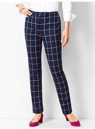 Talbots Bi-Stretch High Waist Straight Leg Pant- Plaid