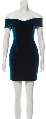 Nicholas Velvet Off-The-Shoulder Dress
