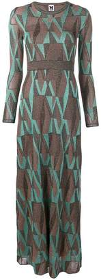 M Missoni geometric flared maxi dress