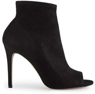 Reiss Estelle Metallic Peep Toe Heeled Ankle Boots