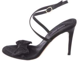 Ralph Lauren Purple Label Satin Ankle Strap Sandals