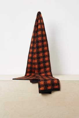 French Connenction Mohair Plaid Scarf